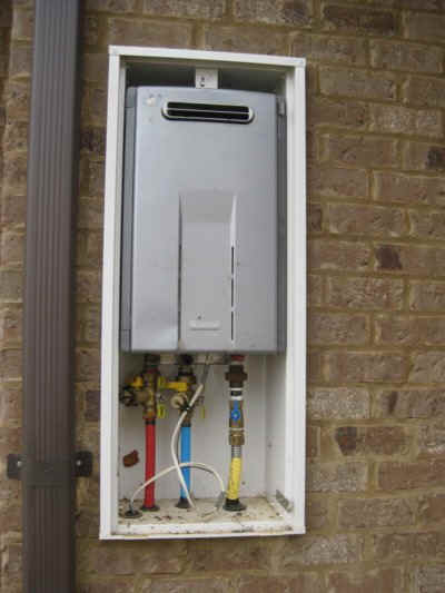 Water heaters brandon mississippi home inspectors website - Exterior hot water heater enclosure ...