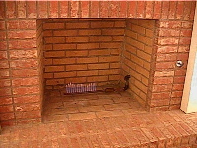 This Is A Brick Fireplace With Gas Burner Or Starter Set Up For Wood Burning Style Provision Has No Safety Shut Off